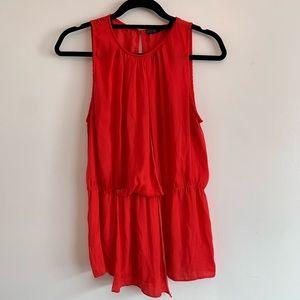 ⭐️ 3/$25⭐️ Zara Red ruffle peplum silky top